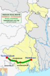 Steel Express (Howrah - Tatanagar) Route map.png