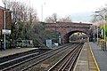 Stephensons bridge, Rainhill railway station (geograph 3819265).jpg