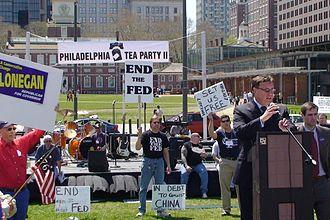Steve Lonegan - Steve Lonegan addresses protestors at the Philadelphia Tea Party protest on April 18, 2009.