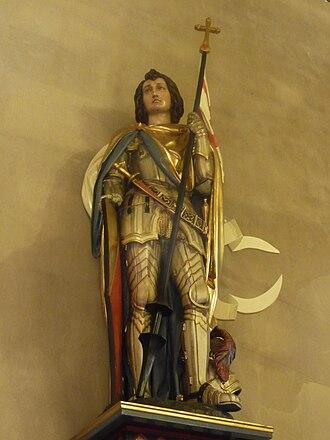 Bernhard II, Margrave of Baden-Baden -  Statuette in the Collegiate Church in Baden-Baden