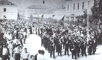 Croats of Bosnia and Herzegovina - People gathered waiting for Stjepan Radić to arrive in Mostar in 1925