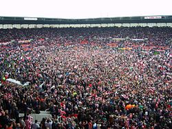 Stoke City FC Pitch Invasion 2008.jpg