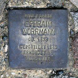Photo of Ephraim Worrmann brass plaque