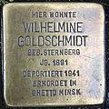 Stolperstein Delmenhorst - Wilhelmine Goldschmidt (1891).JPG