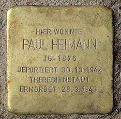 Photo of Paul Heimann brass plaque
