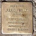 Stolperstein Mehringdamm 88 (Kreuzb) Julius Friede.jpg