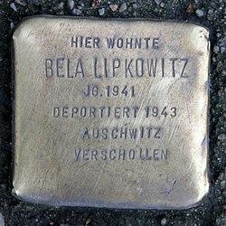 Photo of Bela Lipkowitz brass plaque