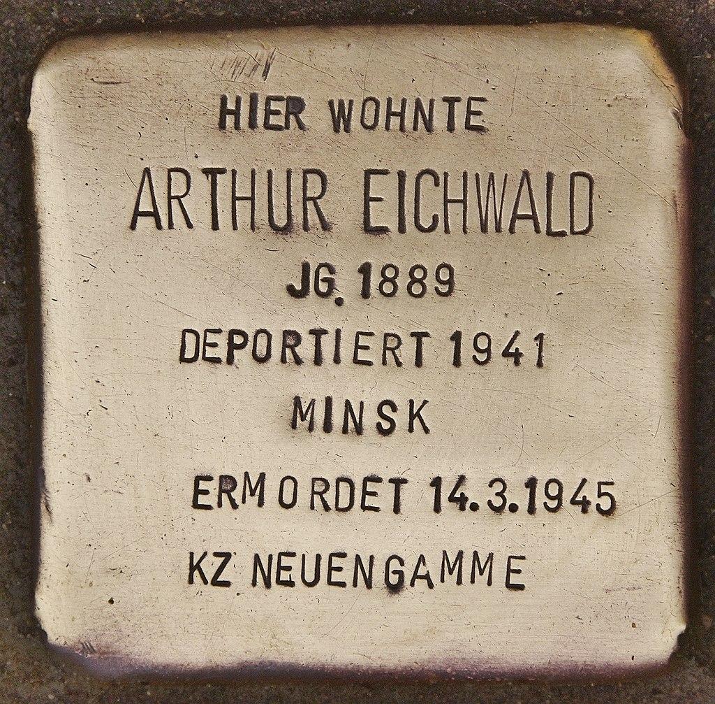 Stolperstein für Arthur Eichwald (Kappeln).jpg