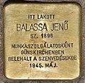 Stolperstein für Jenö Balassa (Szeged).jpg