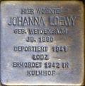 Stumbling block for Johanna Loewy (Agrippastraße 8)