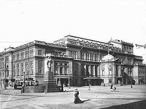 Saint Petersburg Conservatory - Theatre Square and the conservatory, as seen in 1913