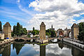 Strasbourg, France, Ponts Couverts seen from Barrage Vauban.jpg