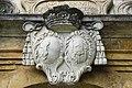 Strassburg Schlossweg 6 ehem. Bischofsburg Zwingmauer mit Bischofsportal Supraporte Wappen 03092012 4961.jpg