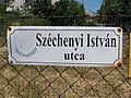 Street sign, Széchenyi Street, 2017 Abony.jpg