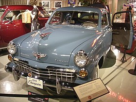 Studebaker National Museum May 2014 075 (1949 Studebaker Champion Regal Deluxe).jpg