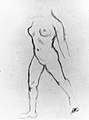 "Study for ""Action in Chains (Monument to Louis-Auguste Blanqui)"" or ""Île de France (Woman Walking in Water)"", 1905-07 MET 47447.jpg"
