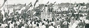 Merdeka Square, Jakarta - Sukarno speaking at the Rapat Akbar on 19 September 1945.