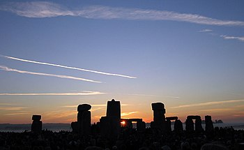 The Sun rising over Stonehenge on the morning ...