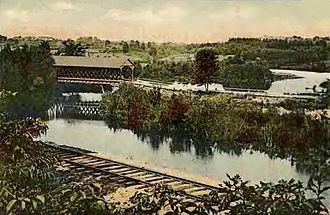 Pittsfield, New Hampshire - Suncook River in 1908