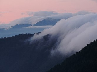 Misty Mountains - Mist on the Alps, which are said to have inspired Tolkien