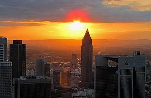 Messeturm - Image: Sunset maintower 2011 ffm 072 b
