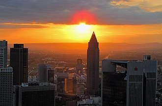 Messeturm - Image: Sunset maintower 2011 ffm 072 b