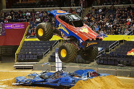 Superman monster truck