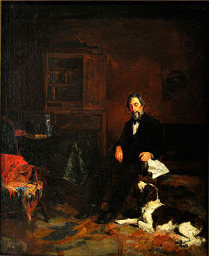 Taubman Museum of Art - Image: Susan Macdowell Eakins, Gentleman and a Dog, 1878
