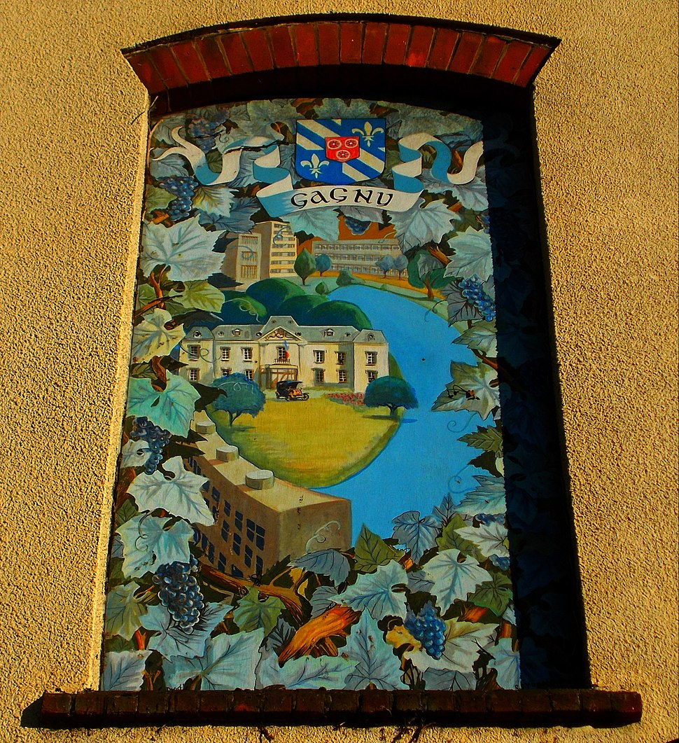 Sutton twin towns mural painting, SUTTON, Surrey, Greater London (2)