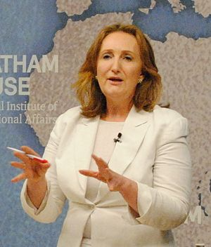 Suzanne Evans - Evans speaking at a Chatham House debate on the EU referendum, May 2016