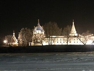 Suzdal - Suzdal kremlin at winter night