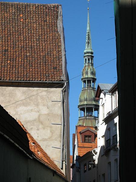 File:Sv. Pētera luterāņu baznīca, tornis (2).JPG