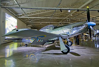 Swedish Air Force - Swedish Air Force P-51D on display at the Swedish Air Force Museum