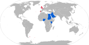 Swingfire - Map with Swingfire operators in blue and former operators in red