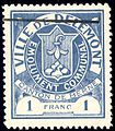 Switzerland Delémont 1904 revenue 1Fr - 5.jpg