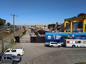 Sydney Metro City & Southwest - Excavation of the Marrickville dive in August 2018