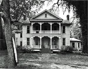 National Register of Historic Places listings in Brantley County, Georgia - Image: Sylvester Mumford House, Waynesville, GA, USA