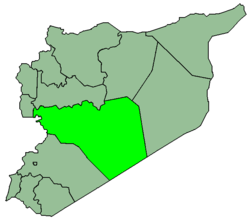 Map of Syria with Homs highlighted.