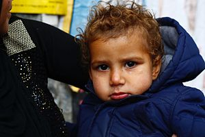 Refugees of the Syrian Civil War - A Syrian refugee child in Istanbul