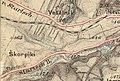 Třebíč Borovina map from year 1877.jpg