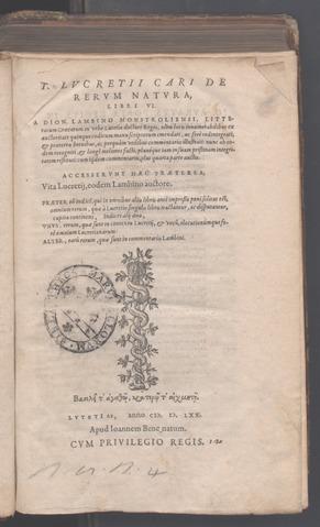 De rerum natura, 1570