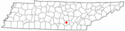 Location of Altamont, Tennessee