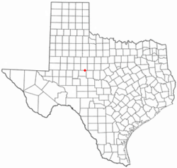 Location of Blackwell, Texas