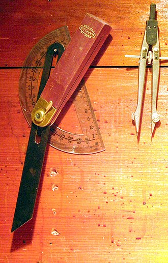 Sliding T bevel - T bevel with protractor and dividers