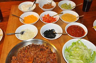 Taco - Various taco ingredients