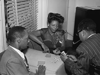 Tadd Dameron - Tadd Dameron, Mary Lou Williams, and Dizzy Gillespie in Williams's apartment, c. June 1946
