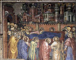 Taddeo di Bartolo - Image: Taddeo di bartolo, funerali della vergine, palazzo pubblico, siena