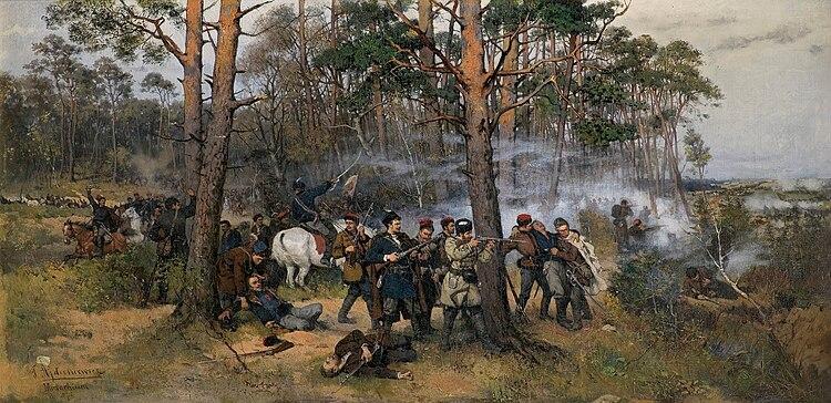 Tadeusz Ajdukiewicz, scène de l'insurrection de 1863
