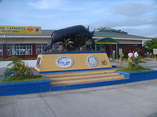 Tamaraw statue at the San Jose Airport entrance in Mindoro.jpg