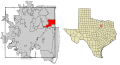 Tarrant County Texas Incorporated Areas Euless highlighted.svg